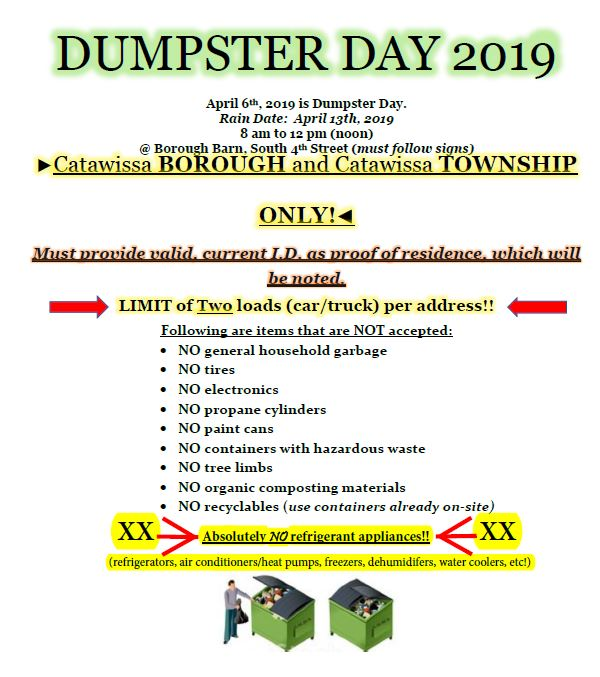 Dumpster Day 2019